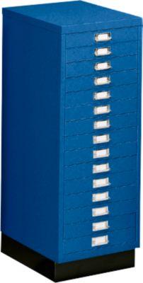 SSI-ladekast DIN A3, blauw, 15 laden, 940 mm hoog