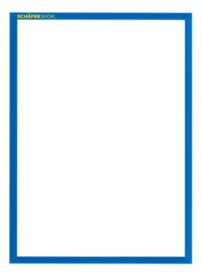 SSI Magnetrahmen Standard, DIN A4 Hochformat, 5 Stück, blau