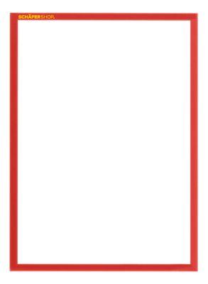 SSI Magnetrahmen Standard, DIN A4 Hochformat, 5 Stück, rot