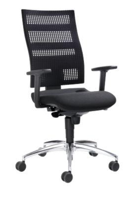 SSI PROLINE Edition bureaustoel, zonder armleuningen, zitbekleding zwart/ rugbekleding zwart