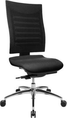 SSI PROLINE S3 bureaustoel, zonder armleuningen, zwart/zwart