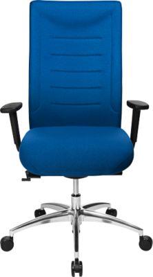SSI PROLINE XXL bureaustoel, met armleuningen, voor personen met een lichaamsgewicht tot 150 kg, blauw