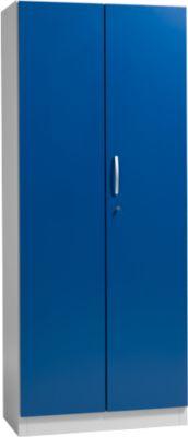 SSI Schäfer Aktenschrank BS 2408, Stahl, 800 x 425 x 1935 mm, 5 OH, lichtgrau/enzianblau
