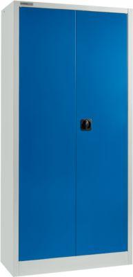 SSI Schäfer Aktenschrank MSI 2409, B 950 x T 400 x H 1935 mm, lichtgrau/enzianblau