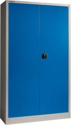 SSI Schäfer Aktenschrank MSI 2412, Stahl, 1200 x 400 x 1935 mm, alusilber/enzianblau