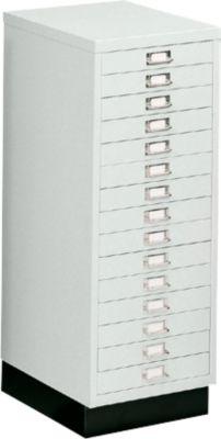 SSI Schubladenschrank DIN A3, 15 Schübe, 940 mm hoch, lichtgrau