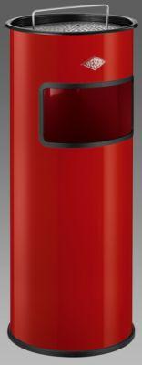Staande asbak/afvalbak, rood, 30 liter