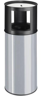 Staande veiligheidsas-/afvalbak, zwart/zilvergrijs