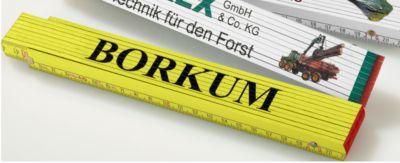 Stabila Zollstock, 2 m, Rotbuchenholz, gelb