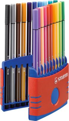 STABILO® Fasermaler Pen 68 ColorParade in Kunsstoffbox, 20 St.