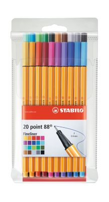 STABILO® Fineliner Point 88, 20er Etui sortiert