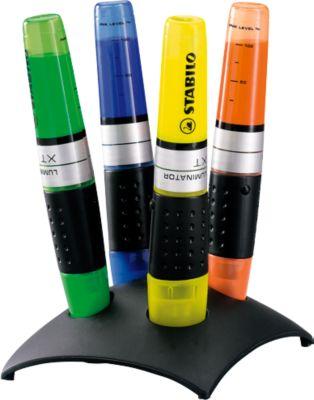 STABILO® tekstmarkers luminator, tafelset van 4 stuks (oranje, geel, groen en blauw)
