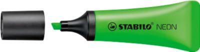 STABILO® Textmarker Neon, grün, 10 Stück