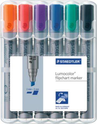 STAEDTLER Flipchartmarker Lumocolor 356BWP6, 6er Set