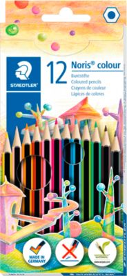 STAEDTLER Kleurenpotloden NORIS®, diverse kleuren, 12 stuks