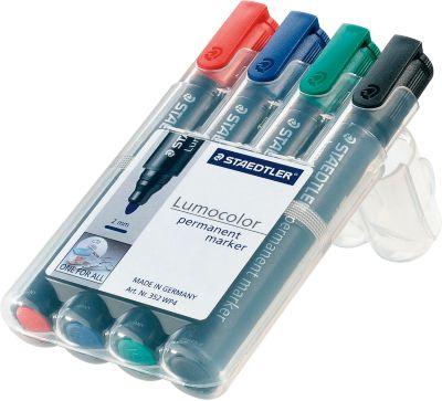 STAEDTLER Lumocolor permanent marker 352, 4er-Set, farbsortiert