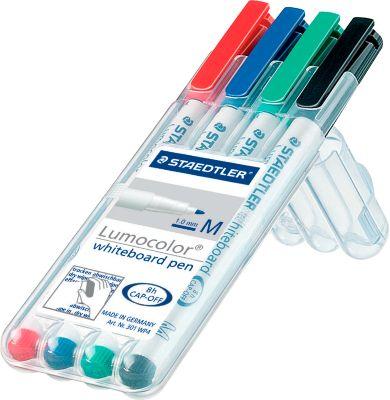 STAEDTLER® Lumocolor whiteboard stiften, 4 stuks, gesort.