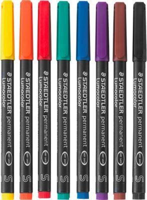 STAEDTLER Universalstift Lumocolor®, farbsortiert, 8er Set,  S, WL