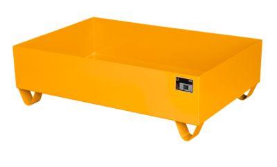 Stahl-Auffangwanne ohne Gitterrost, 1200 x 800 mm, orange RAL 2000