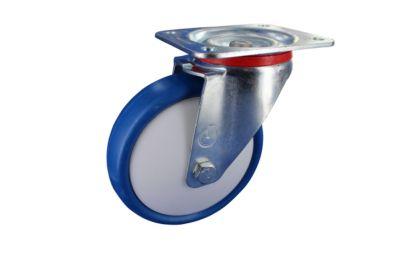 Stahlblech-Lenkrolle mit Anschraubplatte, Rad-ø 80 mm