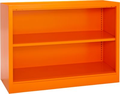 Stahlregal MS iCOLOUR, 2 Ordnerhöhen, B 950 x T 400 x H 865 mm, orange RAL 2004