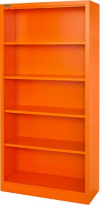 Stahlregal MS iCOLOUR, 5 Ordnerhöhen, B 950 x T 400 x H 1935 mm, orange RAL 2004