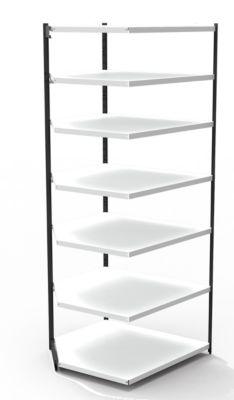 Stahlregal PROGRESS 2000, Regalfeld, ohne Rückwand, H 2600 x B 750 x T 300 mm, Rahmen schwarz