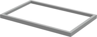Stahlsockel TETRIS WALL, B 600 x H 30 mm