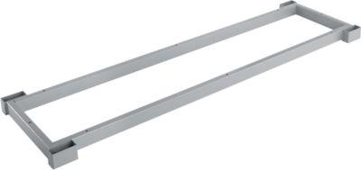 Stahlsockel TETRIS WOOD, Zurückgesetzt, für Regale/Schränke B 1200 mm