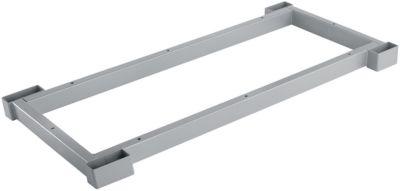 Stahlsockel TETRIS WOOD, Zurückgesetzt, für Regale/Schränke B 800 mm, weißalu