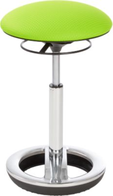 Stahulp Sitness HIGH BOB, ergonomisch zitten, zithoogte 490 tot 700 mm, appelgroen, onderstel verchroomd