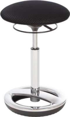 Stahulp Sitness HIGH BOB, ergonomisch zitten, zithoogte 490 tot 700 mm, zwart, onderstel verchroomd