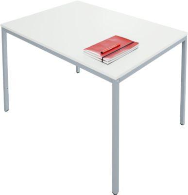 Stalen tafel, 1200 x 800 mm, l.grs/aluwit