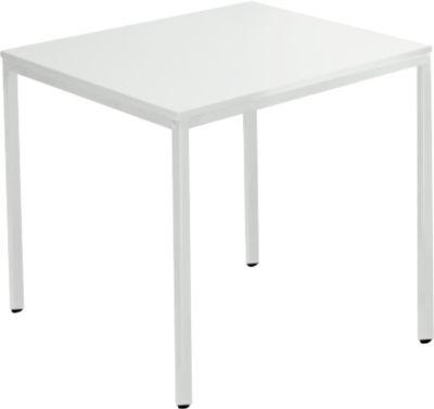 Stalen tafel, 800 x 800 mm, l.grs/l.grs
