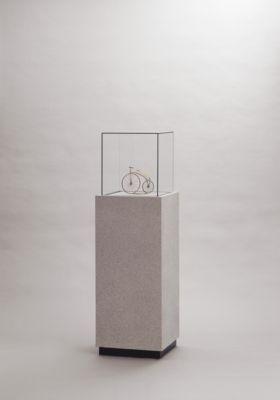 Stand-Präsentationsvitrine, H 1400 x B 450 x T 450 mm, mit Haube