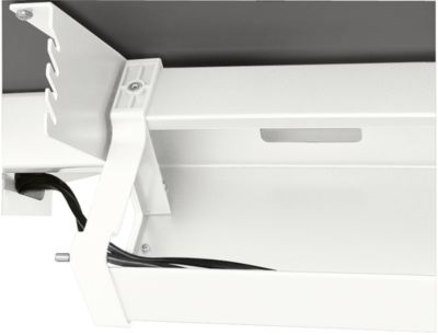 Standaard kabelgoot, voor in hoogte verstelbare bureaus vanaf B 1400 mm, inklapbaar, wit
