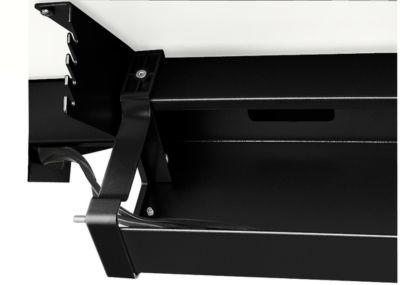 Standaard kabelgoot, voor in hoogte verstelbare bureaus vanaf B 1400 mm, inklapbaar, zwart