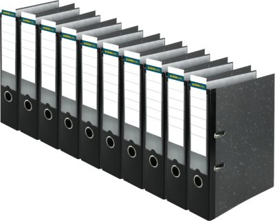 Standaard ordners A4 met insteeketiket-houder, 80 mm, 10 stuks