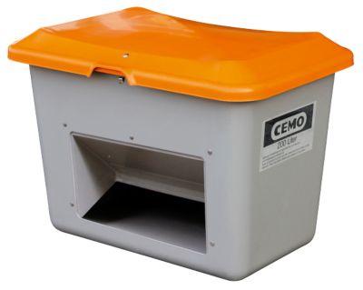 Standaard strooizoutcontainer CEMO,in GFK, met uitneemopening, 200 liter, l 890 x b 600 x H 640 mm