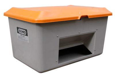 Standaard strooizoutcontainer CEMO,in GFK, met uitneemopening, 400 liter, l 1210 x b 820 x H 670 mm