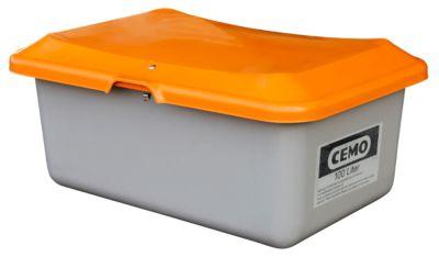 Standaard strooizoutcontainer CEMO, in GFK, zonder uitneemopening, 100 liter, L 890 x B 600 x H 340 mm