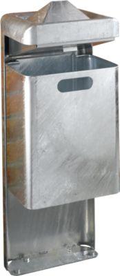 Standascher-/Abfallkombination, 35 l, verzinkt