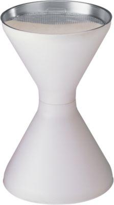 Standascher, Kunststoff (PP), Ascherschale und Sieb, weiß