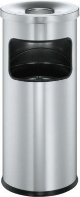 Standascher mit Flammlöschkopf, silbermetallic