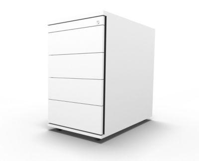 Standcontainer 13333, 1 Utensilienauszug, abschließbar, 3 Schübe, B 428 x T 800 x H 740 mm, weiß