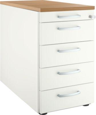 Standcontainer 13333, 5 Schübe, weiß/Kirsche-Romana