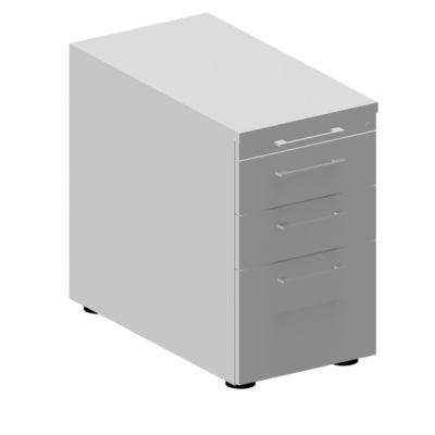 Standcontainer 1336, mit Griff eckig, B 435 x H 717 mm, lichtgrau/lichtrau/lichtgrau