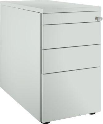 Standcontainer 1336, mit Griffnut, B 435 x H 717 mm, lichtgrau/lichtgrau/lichtgrau