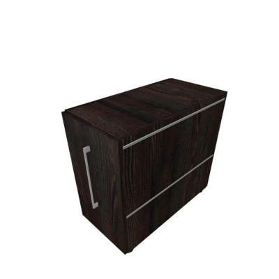Standcontainer SOLUS PLAY, mit Auszug, Ansatz links, Tiefe 400 mm, Mooreiche