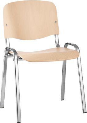 Stapelbare stoel ISO Wood, beuken